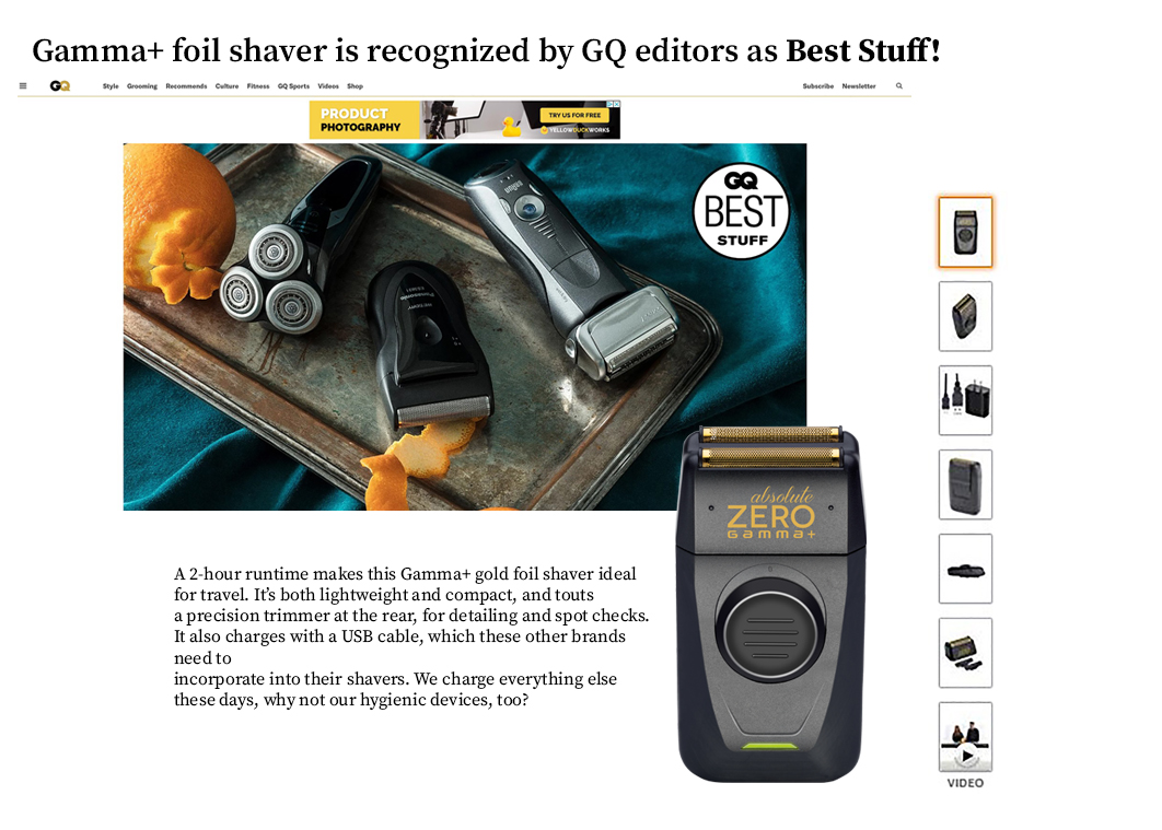 GQ Gamma Absolute Shaver